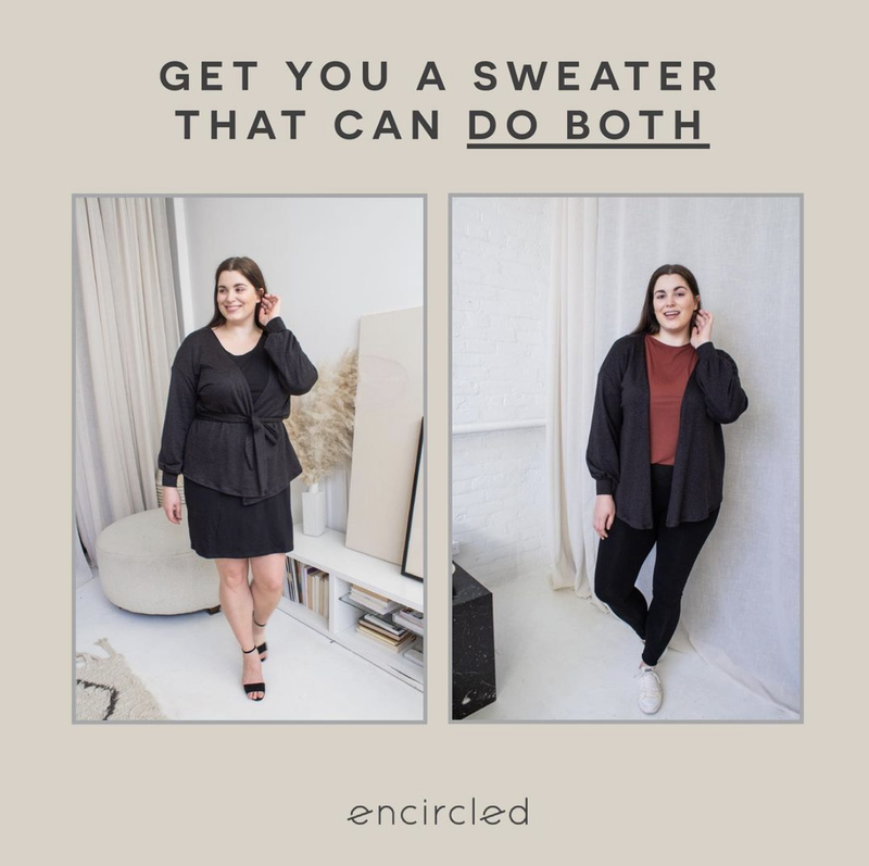 Encircled The Comfy Puff Sleeve Cardigan Review - Zoom WFH Outfits