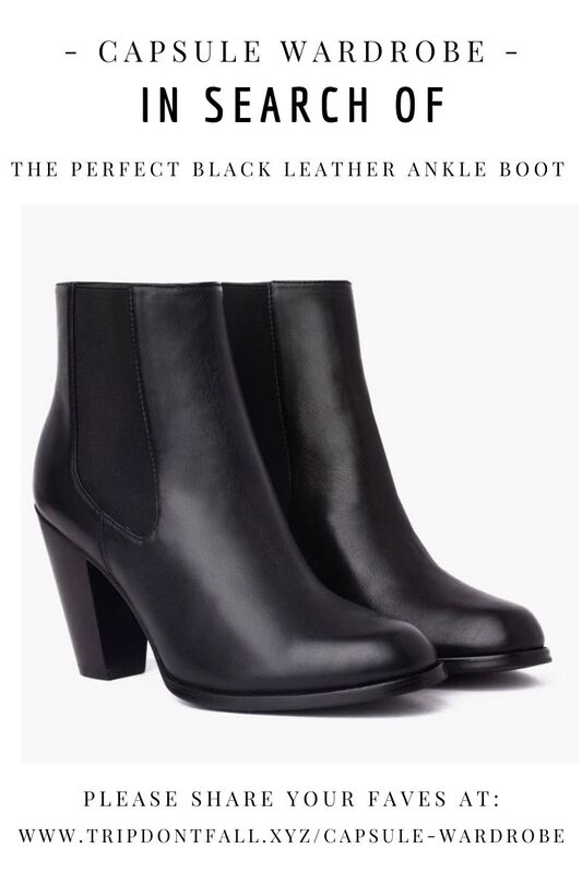 Capsule Wardrobe Basics: In Search Of  The Perfect Black Leather Ankle Boots - Thursday Boots Review Poppy Barley Discount