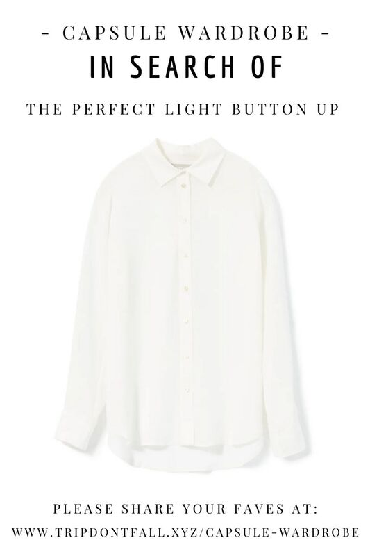 Capsule Wardrobe Basics: In Search Of  The Perfect Light Button Up - One Quince Silk Review